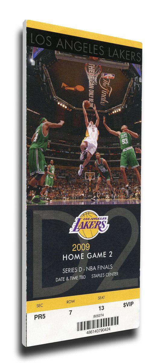 2009 NBA Finals Canvas Mega Ticket - Game 2 - Los Angeles Lakers