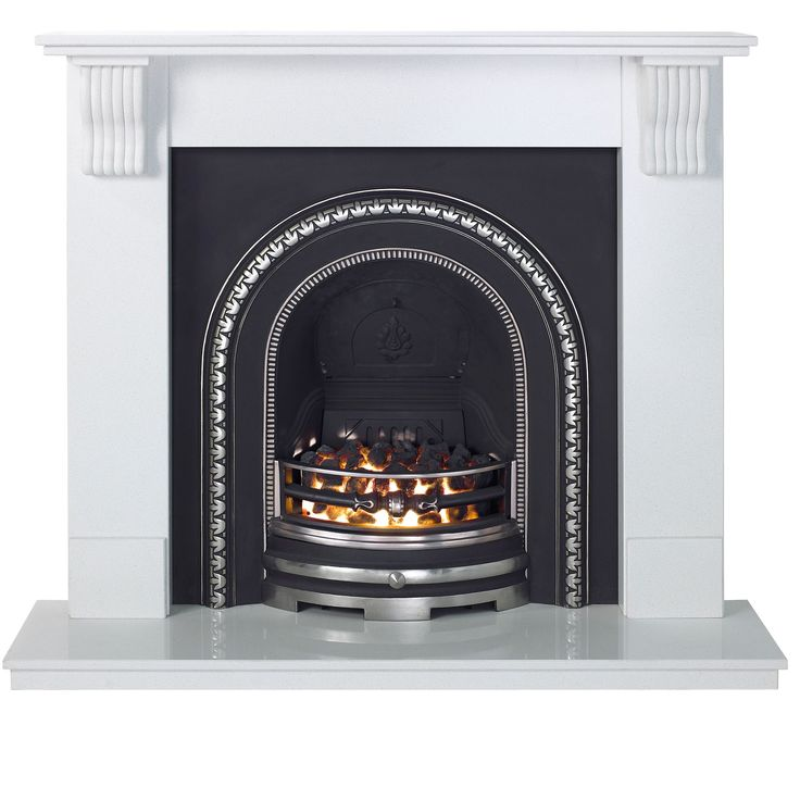 Aurora Victoria Flat Against Wall Electric Fireplace Suite   Rooms   DIY at B&Q