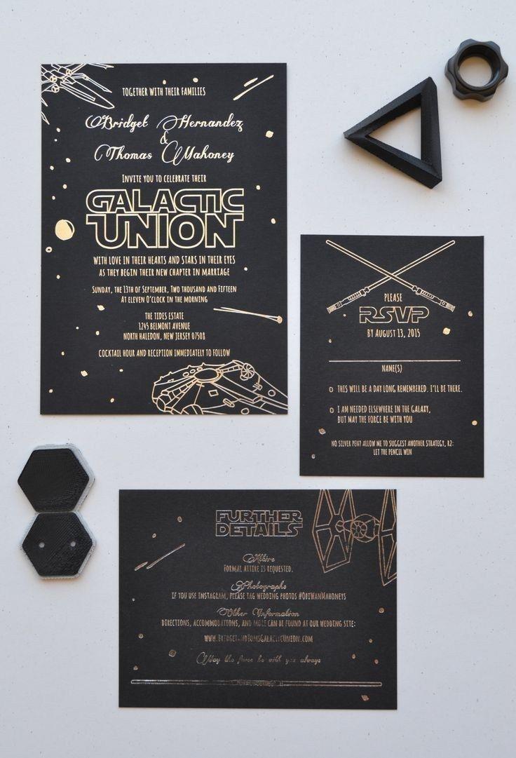 30+ Inspiration Image of Star Wars Wedding Invitations - regiosfera.com