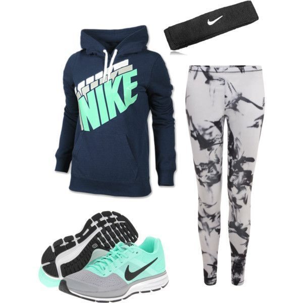 Nike! Polyvore featuring NIKE & McQ
