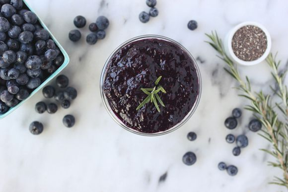 Blueberry Rosemary Chia Seed Jam | Free People Blog #freepeople