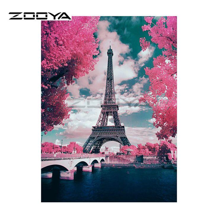 ZOOYA 5D DIY Diamond Embroidery Landscape Eiffel Tower Diamond Painting Cross Stitch Square Rhinestone Mosaic Decoration BK362-in Diamond Painting Cross Stitch from Home & Garden on Aliexpress.com | Alibaba Group