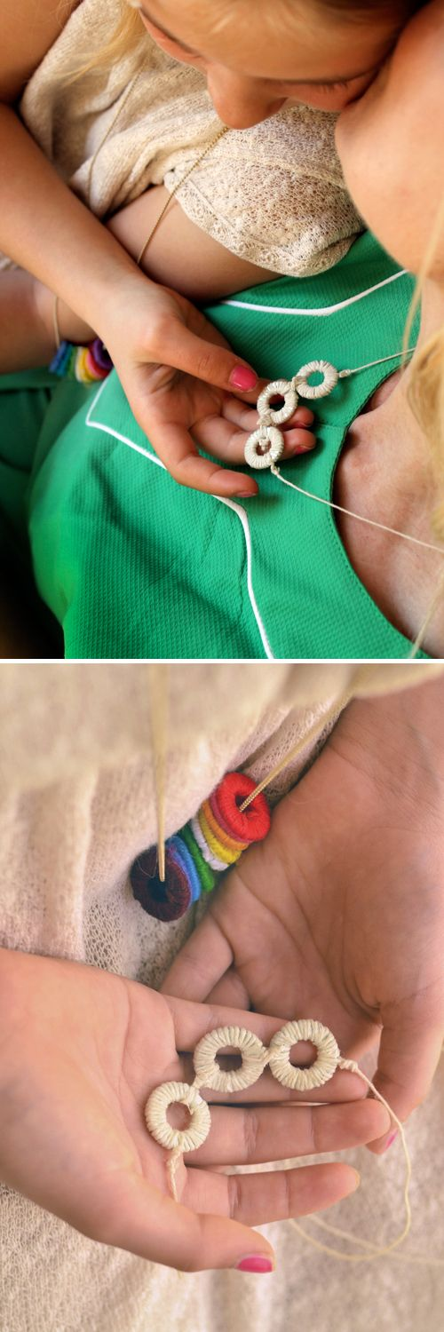 Mother's Day DIY: Wrapped Washer Necklaces - With an easy version for Kids!  |  Design Mom