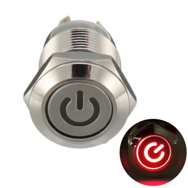 Excellway 12v 4 Pin Led Metal Push Button Switch Momentary Power Switch Waterproof Electrical Equipment Supplies From Industrial Scientific On Banggood Co Lead Metal Led Metal