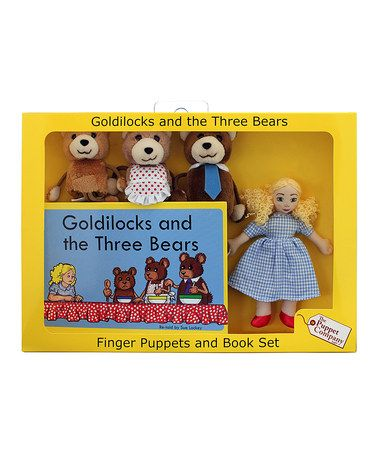 Take a look at this Goldilocks & The Three Bears Finger Puppet Set by The Puppet Company on #zulily today!