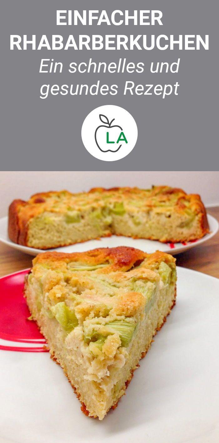Schneller Rhabarberkuchen – Zuckerfrei backen leicht gemacht