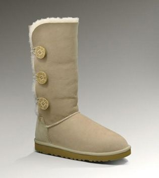 UGG Bailey Button Triplet Boots 1873 Sand - UGG Outlet Enjoy 100% Satisfaction - $67.00 Save more than $100, Free Shipping, Free Tax, Door to door delivery