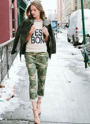 迷彩柄をうまく着こなして。ラクに着こなしたいタイプの女子必見のコーデ☆参考にしたいアメカジ系スタイル・ファッションのアイデア♪