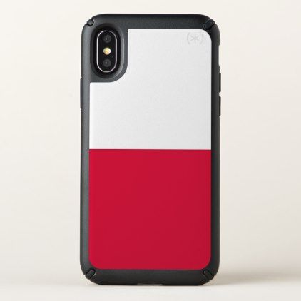 Speck Presidio iPhone X Case with Poland flag - trendy gifts cool gift ideas customize