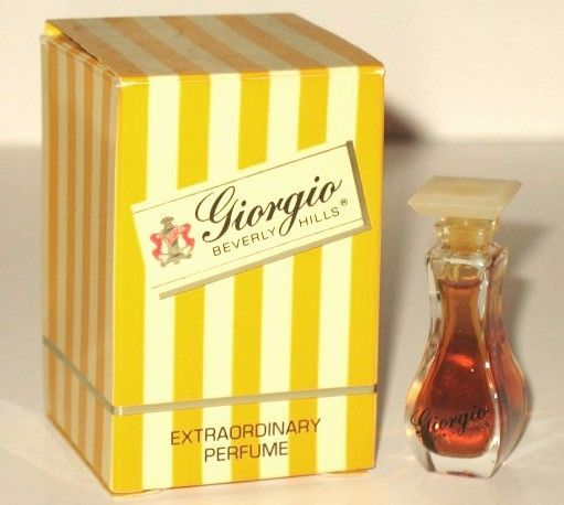 Vintage Giorgio Beverly Hills perfume. My boyfriend's mom always looked so gorgeous and smelled so good. Love!