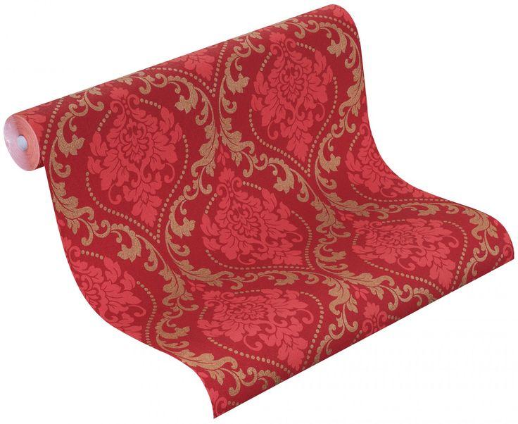 Rasch Tapete Gentle Elegance 725650 Barock rot pink gold