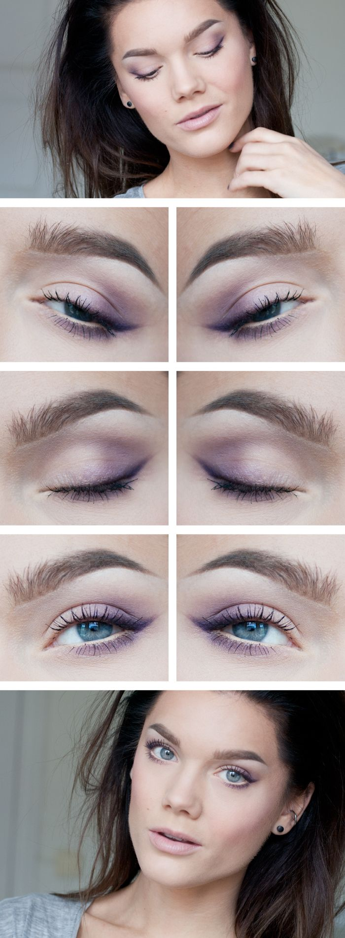 Mauve eye look
