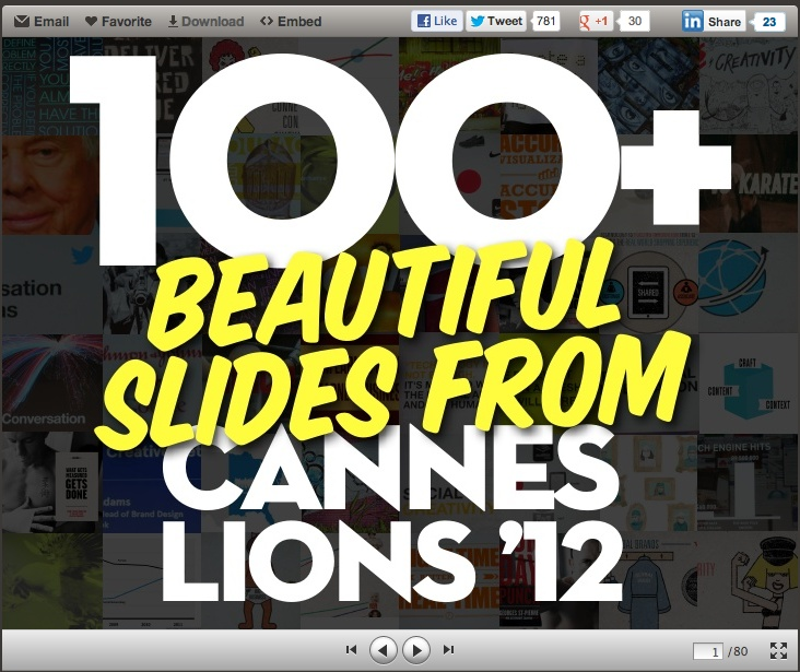 100+ Best Slides from Cannes Lion 2012