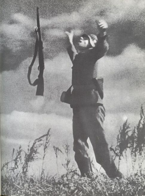 The Death of a soldier :- A German soldier is caught in camera as  he is hit by a fatal bullet in 1944.
