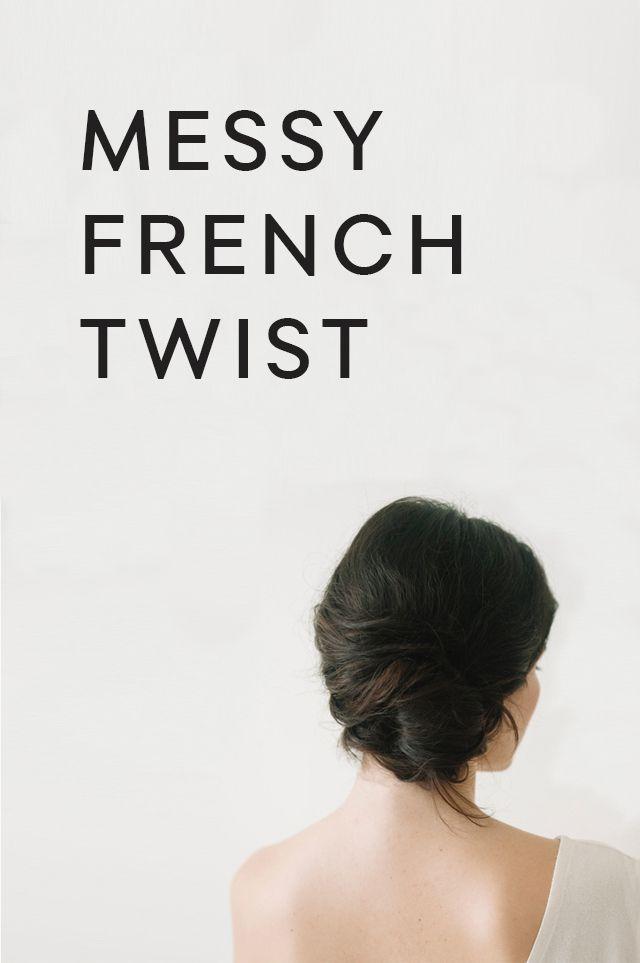 Messy Side French Twist Tutorial