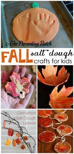 Fall salt dough ornaments and craft ideas for kids…