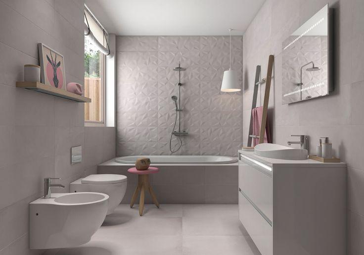 Серая плитка в ванной комнате: особенности, фото