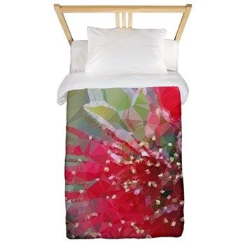 Bottlebrush Low Poly Floral Twin Duvet Cover