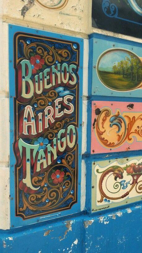Fileteado porteño Abasto Buenos Aires