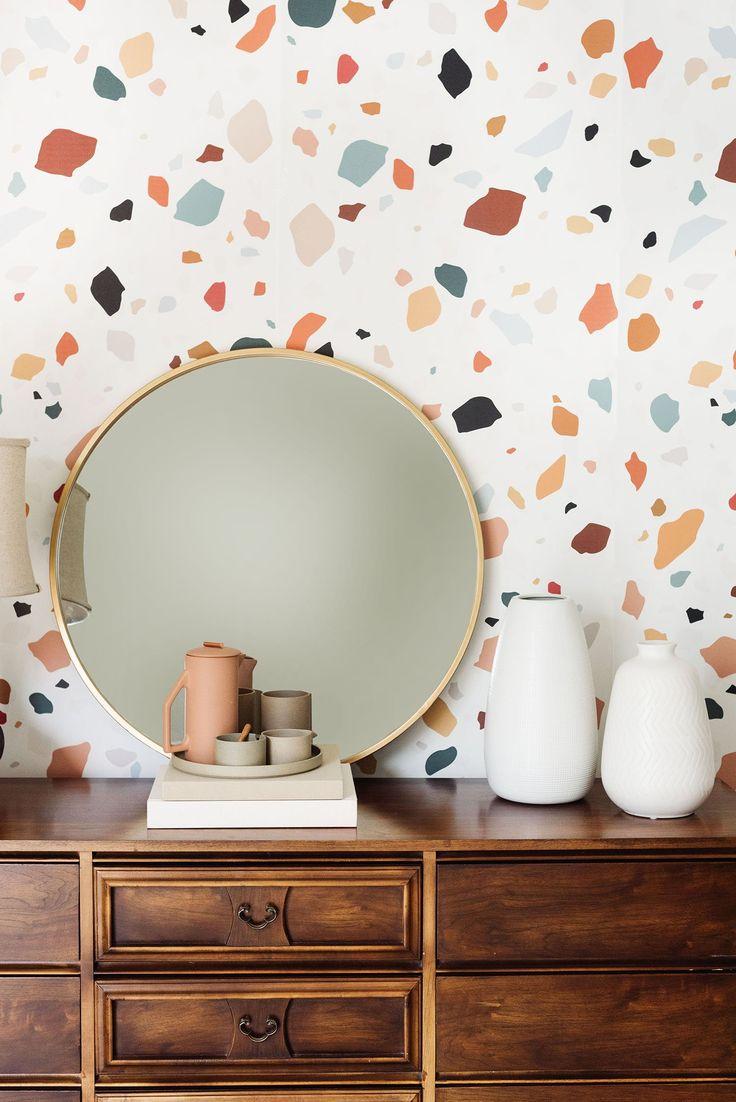 Accent Wallpaper, Office Wallpaper, Home Wallpaper, Print Wallpaper, Wallpaper For Walls, Interior Wallpaper, Wallpaper Decor, Wallpaper Ideas, Midcentury Wallpaper