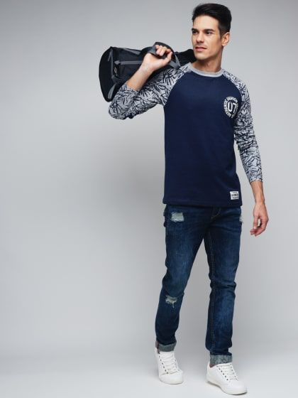 40095b96b Abstract Aghori T-Shirt - Navy | Bharti's Hub Men | T shirt, Cool t ...