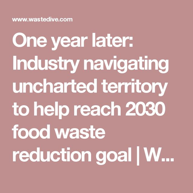 One year later: Industry navigating uncharted territory to help reach 2030 food waste reduction goal               | Waste Dive