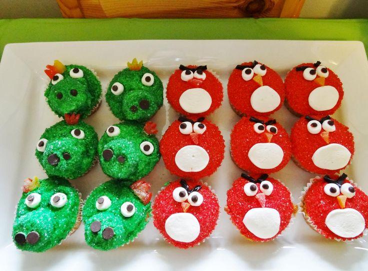 Angrey Bird Cupcakes