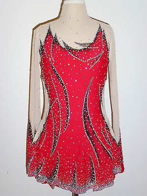 BEAUTIFUL & STUNNING ICE SKATING DRESS SIZE CUSTOM MADE TO FIT