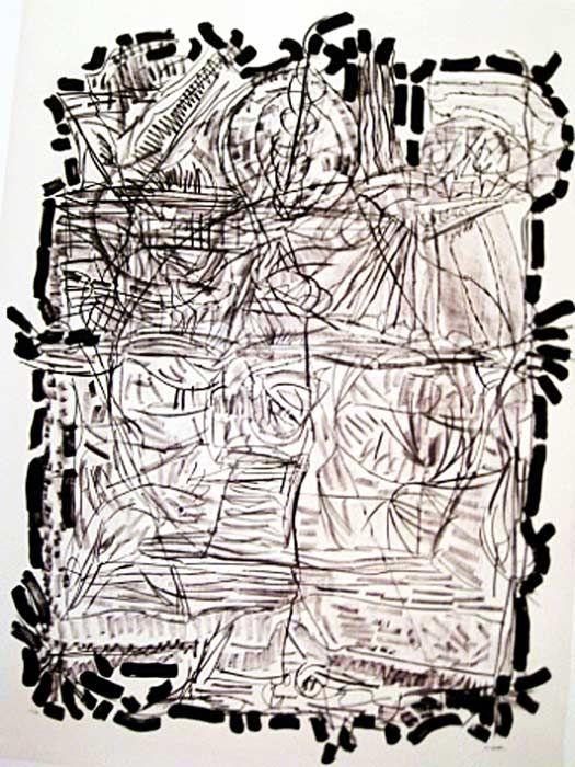 "Jean Paul Riopelle, Suite Finale, 1972,  Lithographie, 63"" x 45.5"""