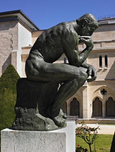 """The Thinker"" by Auguste Rodin analysis at http://www.arteeblog.com/2015/11/analise-de-o-pensador-de-auguste-rodin.html"