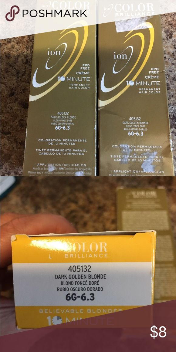 2 Ion permanent hair color Dark Golden Blond 2 Ion permanent hair color Dark Golden Blond. New Other