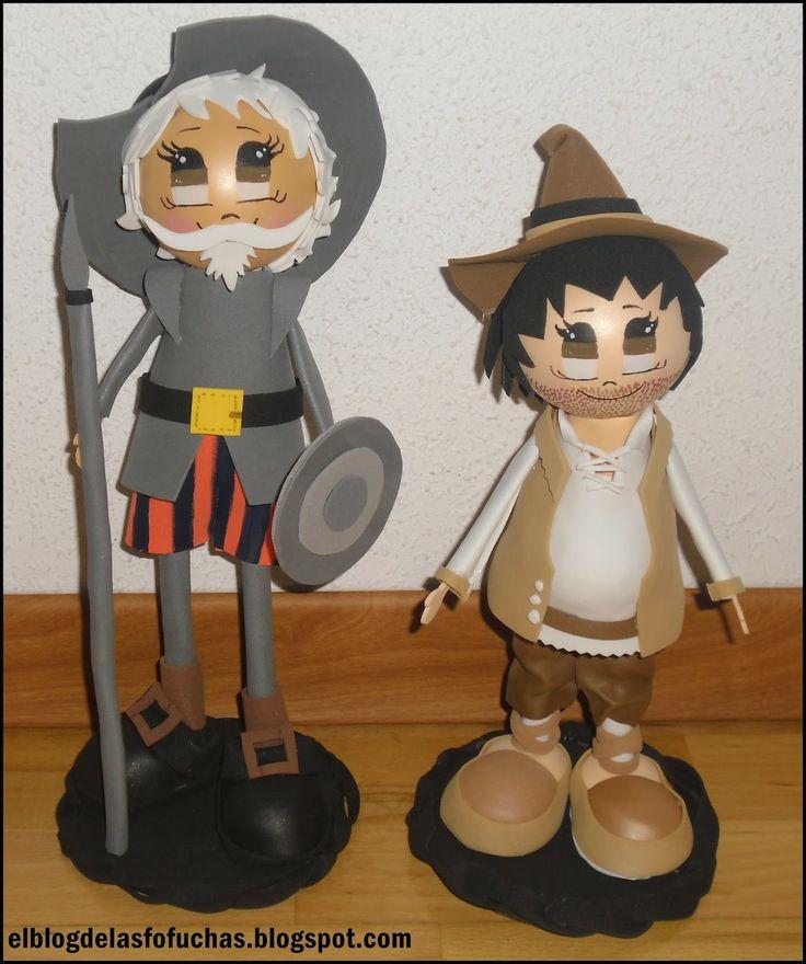 El blog de las fofuchas: Fofucho Don Quijote y Sancho Panza