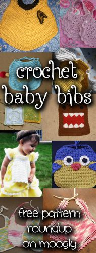 10 Free Crochet Baby Bib Patterns! Match the bib to the parents style and interests for the ideal new baby gift!#crochet