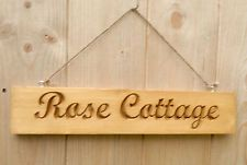 Personalised Wooden Engraved House & Name Signs/Plaques New Handmade