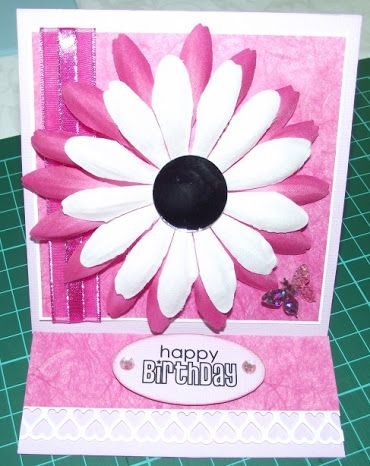 Card with mirror centre