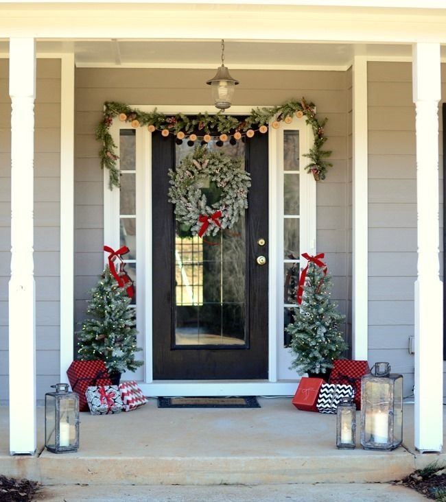 This is one festive front porch. Gotta love how @frugalhomemaker decorated for the holidays using Home Decorators Collection holiday decor. All the greenery is so welcoming. #HDCHolidayHomes