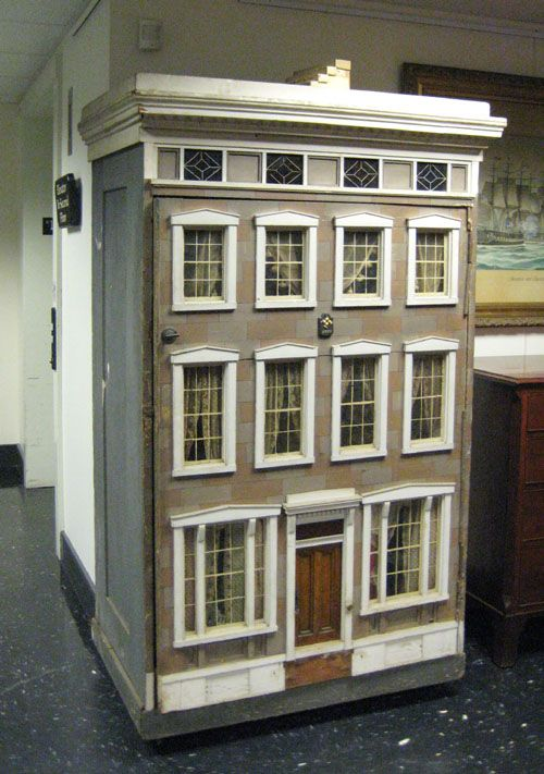 Victorian Painted Dollhouse Ca 1890 The Federal Style