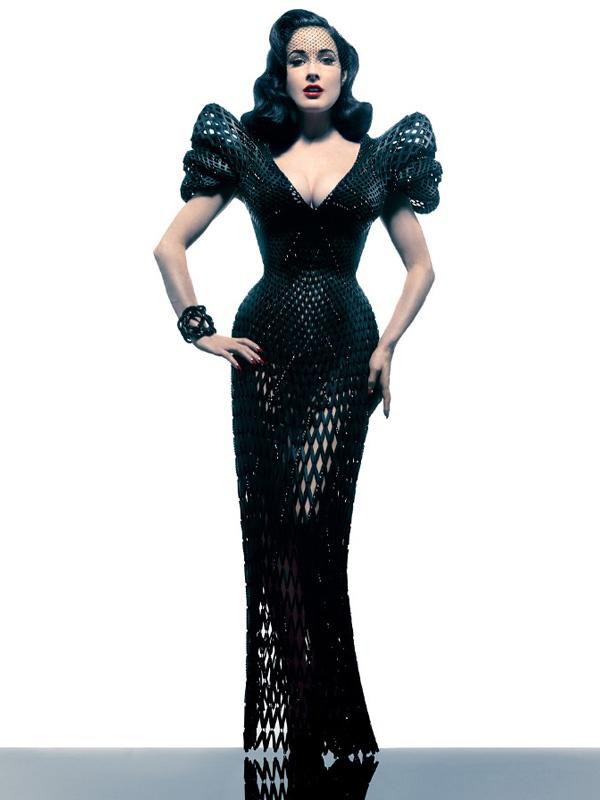 3d printed dress, Dita von teese