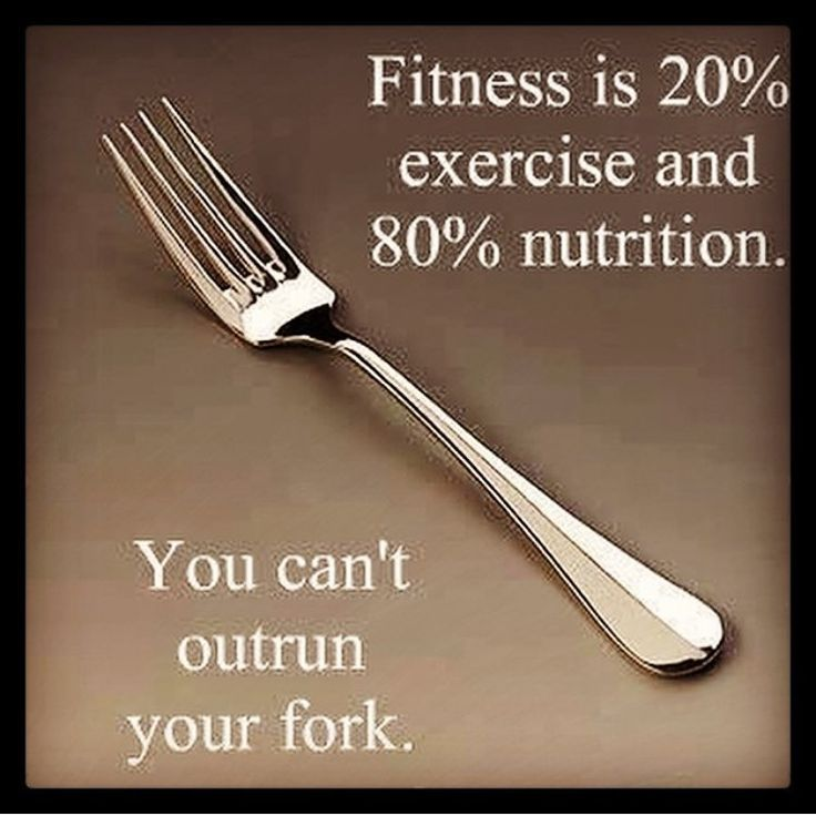 "Yes! I have no clue how someone who ""eats so well"" and ""exercises regularly"" gains weight. It's simple, you can't outrun your fork! Respect yourself enough to take care of your body."