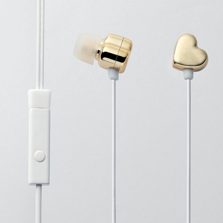 Gold heart headphones Geeky Gifts For Your BFF, Valentine's Day Edition: When you have the best friend in the world, it's hard not to appreciate her 365 days a year.