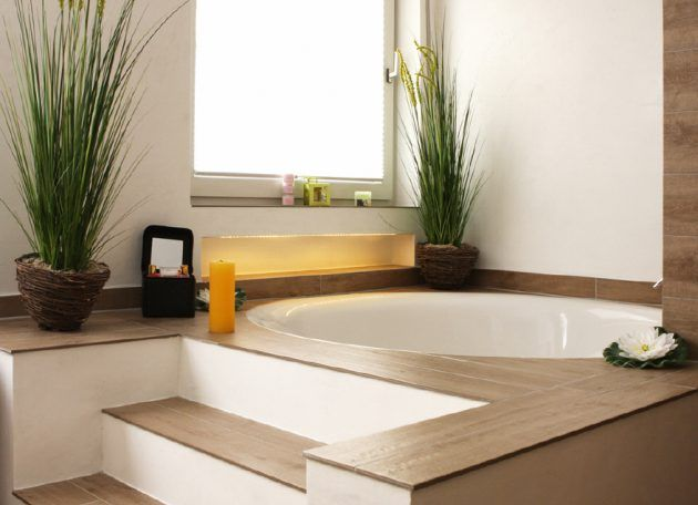 Runde Badewanne - ein Highlight im Bad