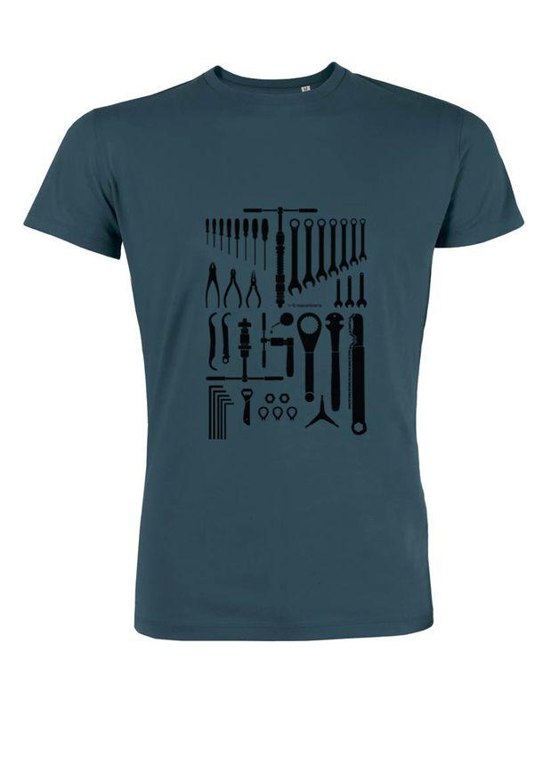 T-Shirts - Bike Tools / Bio-Fair Wear Männershirt - ein Designerstück von MiaCartoleria bei DaWanda