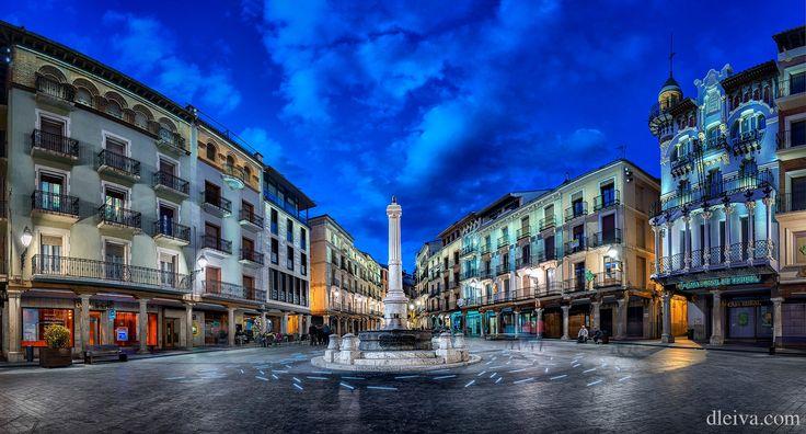 """Plaza del Torico, Teruel, Aragon, Spain - Plaza del Torico at dawn, Teruel, Aragon, Spain <a href=""""http://dleiva.com/"""">dleiva.com/</a>"""