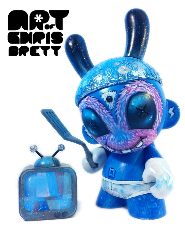 "They Came From the Streets 2 ~ 7"" Custom Munny by Chris Brett, via Behance"