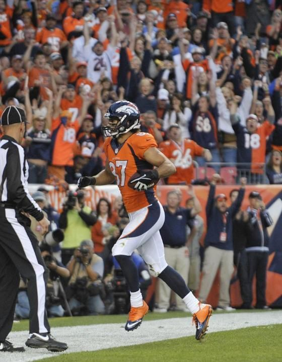 Denver started the game on fire! The Broncos vs. Raiders Monday night. Shots of the Game Monday Sep 23, 2013