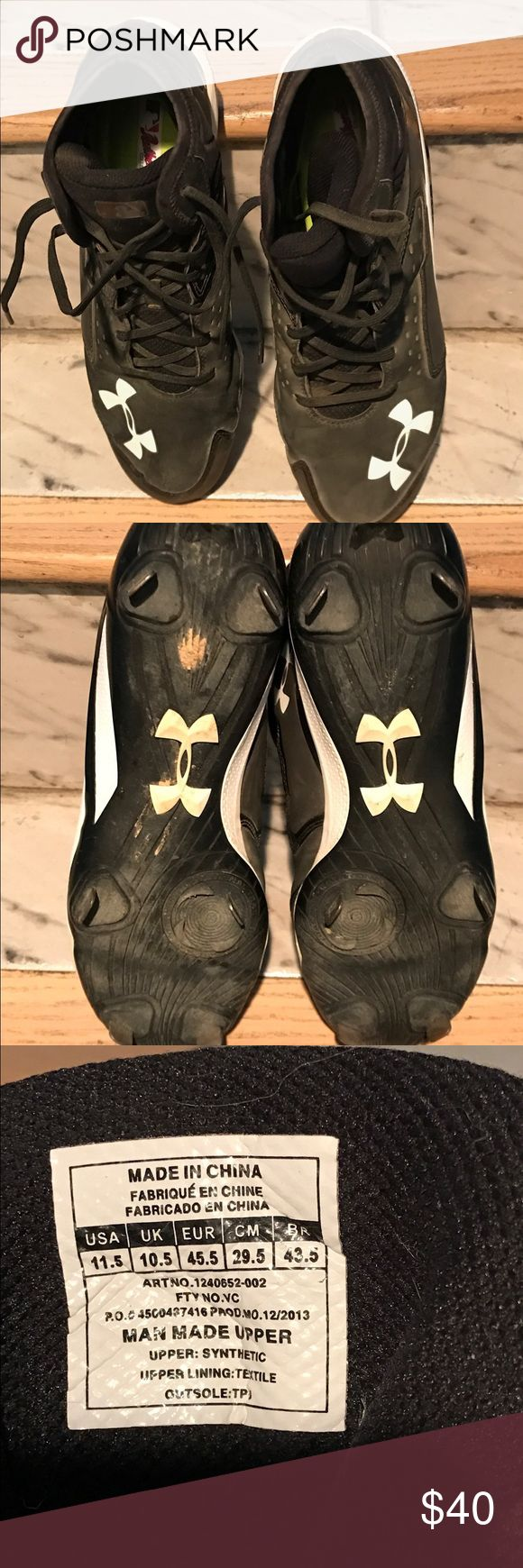 Men's football cleats Men's football metal cleats in good condition gently worn 11.5 under armour Under Armour Shoes Athletic Shoes