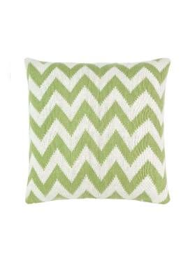 Mendes Cushion by Linen House in Sagebush green, available at Forty Winks.