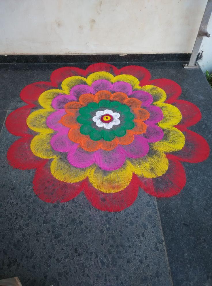 Rangoli @ Modtech Silver Jubilee Diwali Celebration time