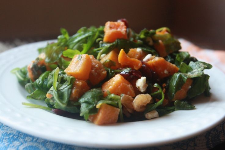 Roasted Butternut Squash Salad with Apple Cider Vinaigrette