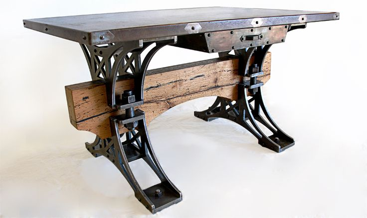 Truss Desk W Concrete Top - He says he can make this! ♥